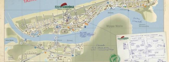 Mapa - Dziwnow