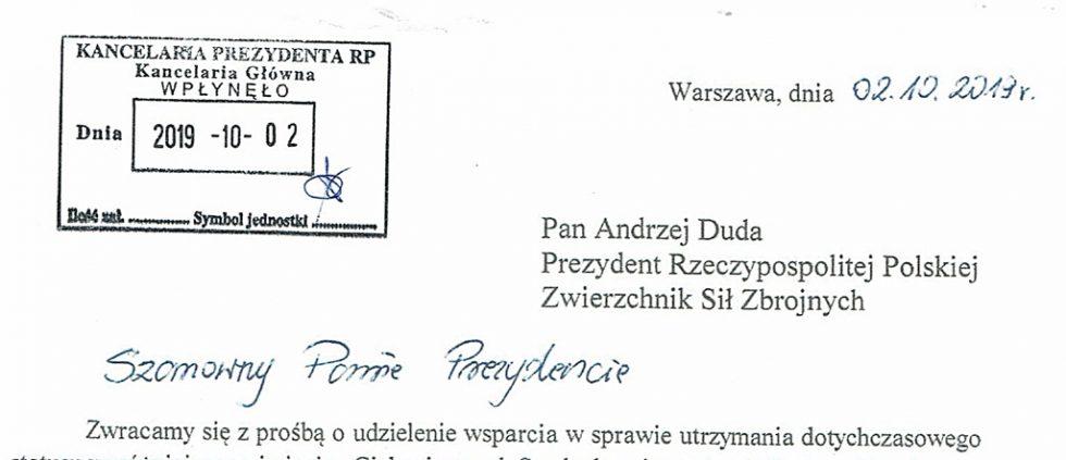 Pismo byłych żołnierzy doPrezydenta RP.