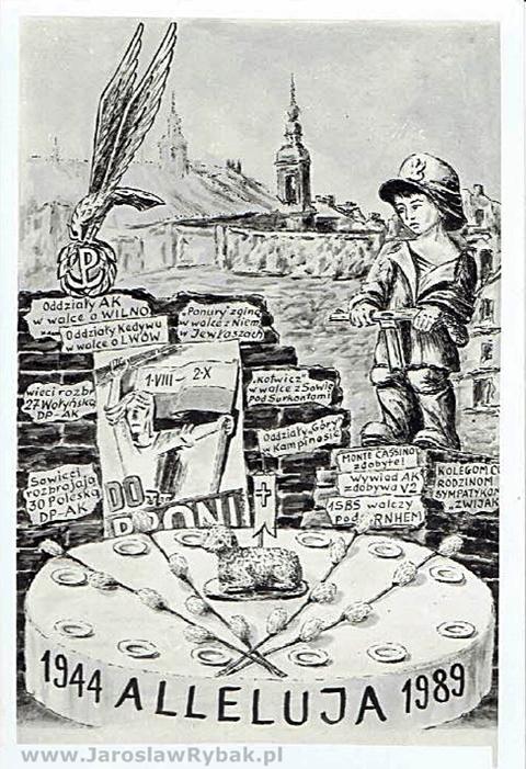 Motyw nawiązujący do45. rocznicy wybuchu Powstania Warszawskiego.