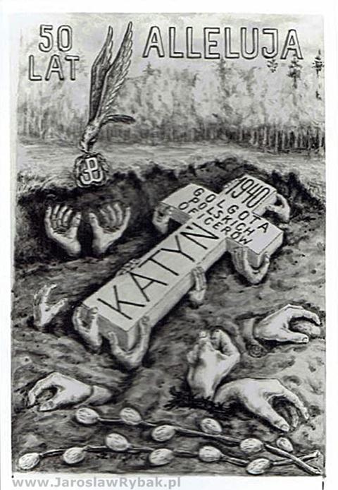 Kartka Wielkanocna z1990 r.