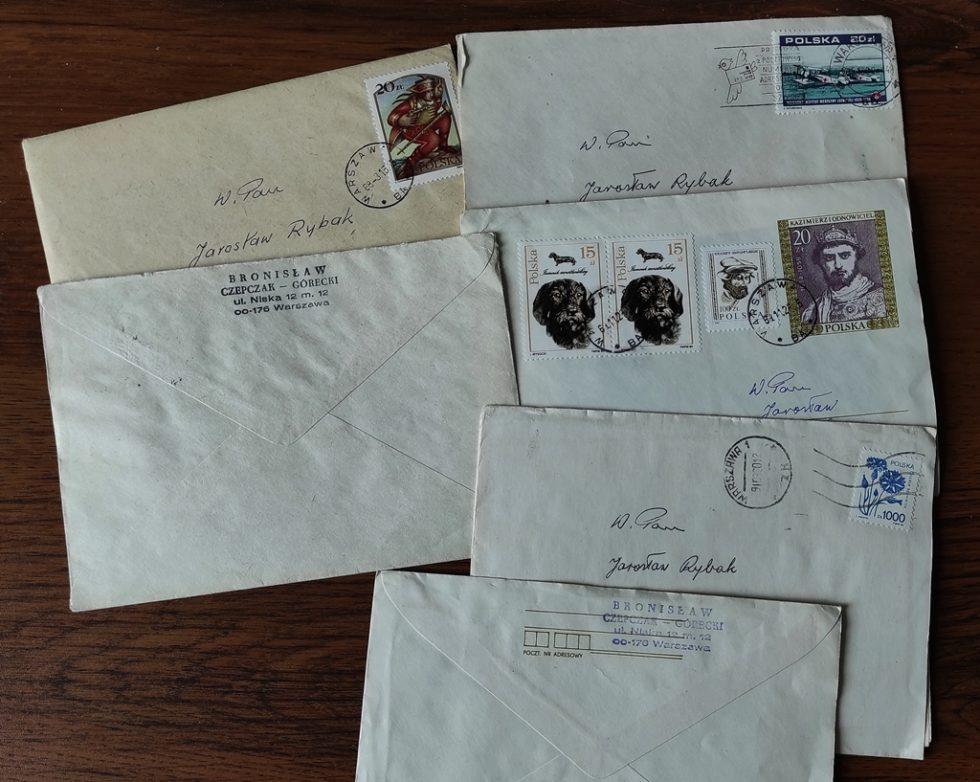 Koperty, wktórychBronisław Czepczak-Górecki rozsyłał korespondencję.